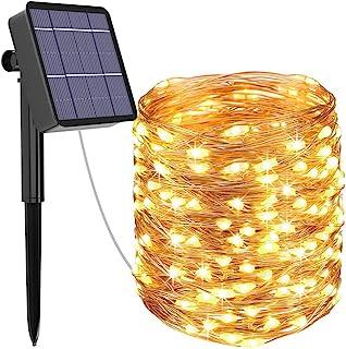 Guirlande Lumineuse Solaire, Kolpop 26M 240 LED Exterieur Étanche Lampe Solaire pour Jardin, Terrasse, Cour, Maison, Arbre...