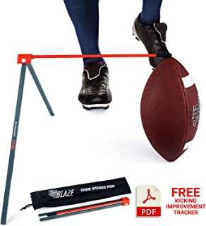 True Strike Pro Football Kicking Tee - Premium Quality Field Goal Kicking Holder Compatible with All Ball Sizes - Super Strong Portable Bonus Kicking Improvement Tracker