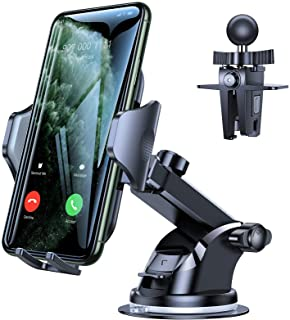 VICSEED Car Phone Mount, [Thick Case & Big Phones Friendly] Long Arm Suction Cup Phone Holder for Car Dashboard Windshield...