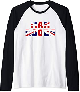 Moobs, Union Jack Flag, Man Boobs Dad Shirt, British Flag Raglan Baseball Tee
