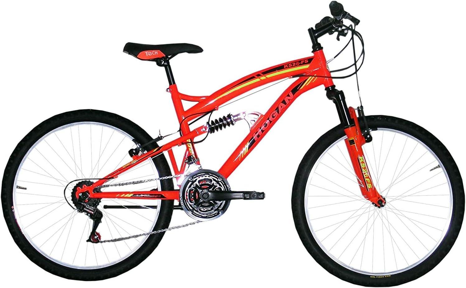 F.lli Masciaghi Bici 26 Full 18 Velocita COMADO Grip (Giallo ...
