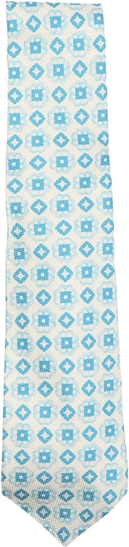 Kiton Men's Silk Diamond/Square Floral Print Necktie