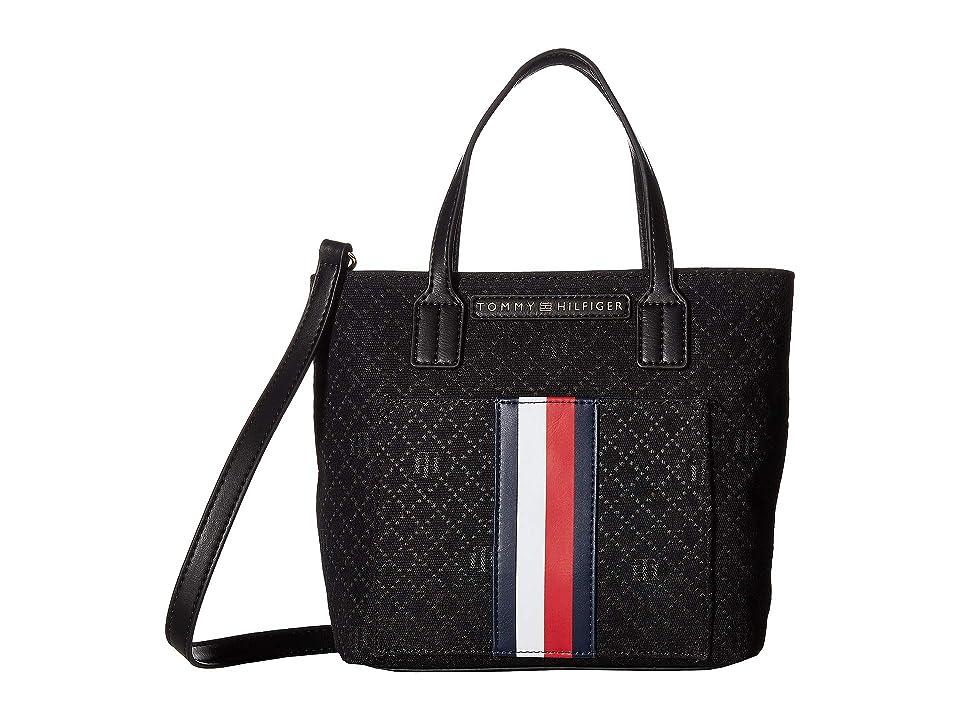 Tommy Hilfiger CS Salem CV Shopper (Black Tonal) Tote Handbags