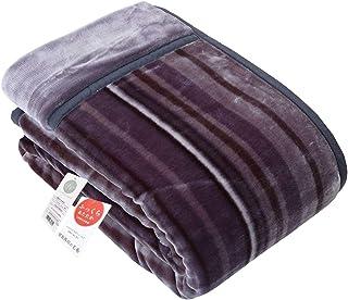 昭和西川 【累計販売実績15,000枚以上】 毛布 グレー シングル 暖ふわ 肌触り なめらか 2枚合わせ 毛布 2230554450930