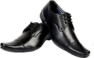 Alpha Men's Black Synthetic Derby Formal Shoes F05