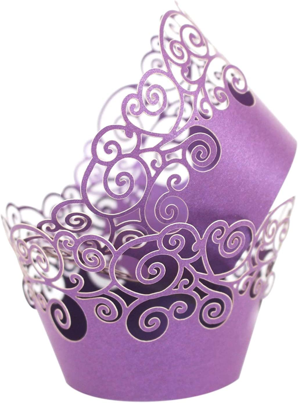 KPOSIYA Cupcake Wrappers 60 Filigree Artistic Bake Cu Paper Max 73% Superior OFF Cake