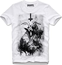 DOPEHOUSE T-Shirt Camiseta BAPHOMET SATANISM PENTAGRAM OCCULT CHURCH DEVIL SATAN