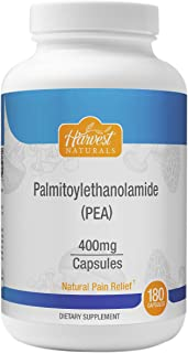 Palmitoylethanolamide (Pea) - Natural Pain Relief Capsules 400mg - Anti-Inflammatory Supplement 180ct - Harvest Naturals