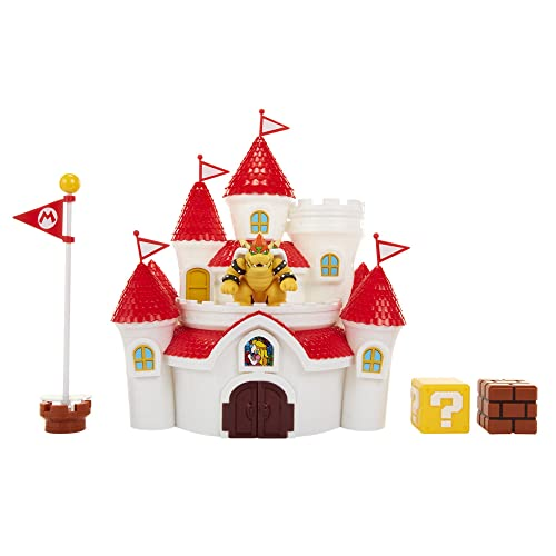 "Nintendo Super Mario Mushroom Kingdom Castle Playset with Exclusive 2.5"" Bowser Figure"