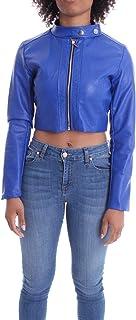 Luxury Fashion   J'aimè Women 9810JROYAL Blue Cotton Outerwear Jacket   Spring-summer 20
