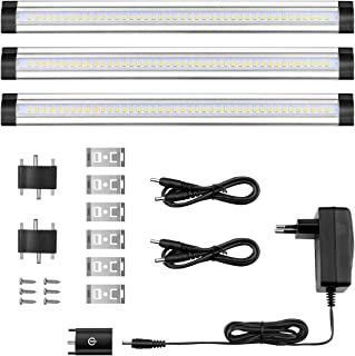 Lighting EVER Barras Luces LED para Muebles, 900lm, 12W=24W