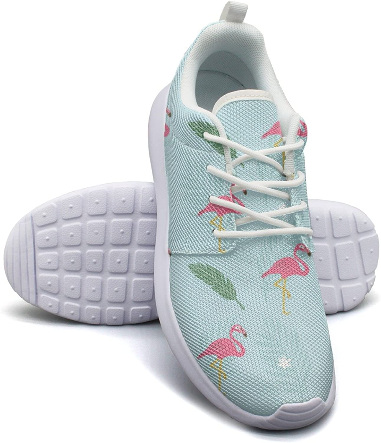 Gjsonmv Large Tropical Flamingo mesh Lightweight shoes for Women Non Slip Sports Hiking Sneakers shoes