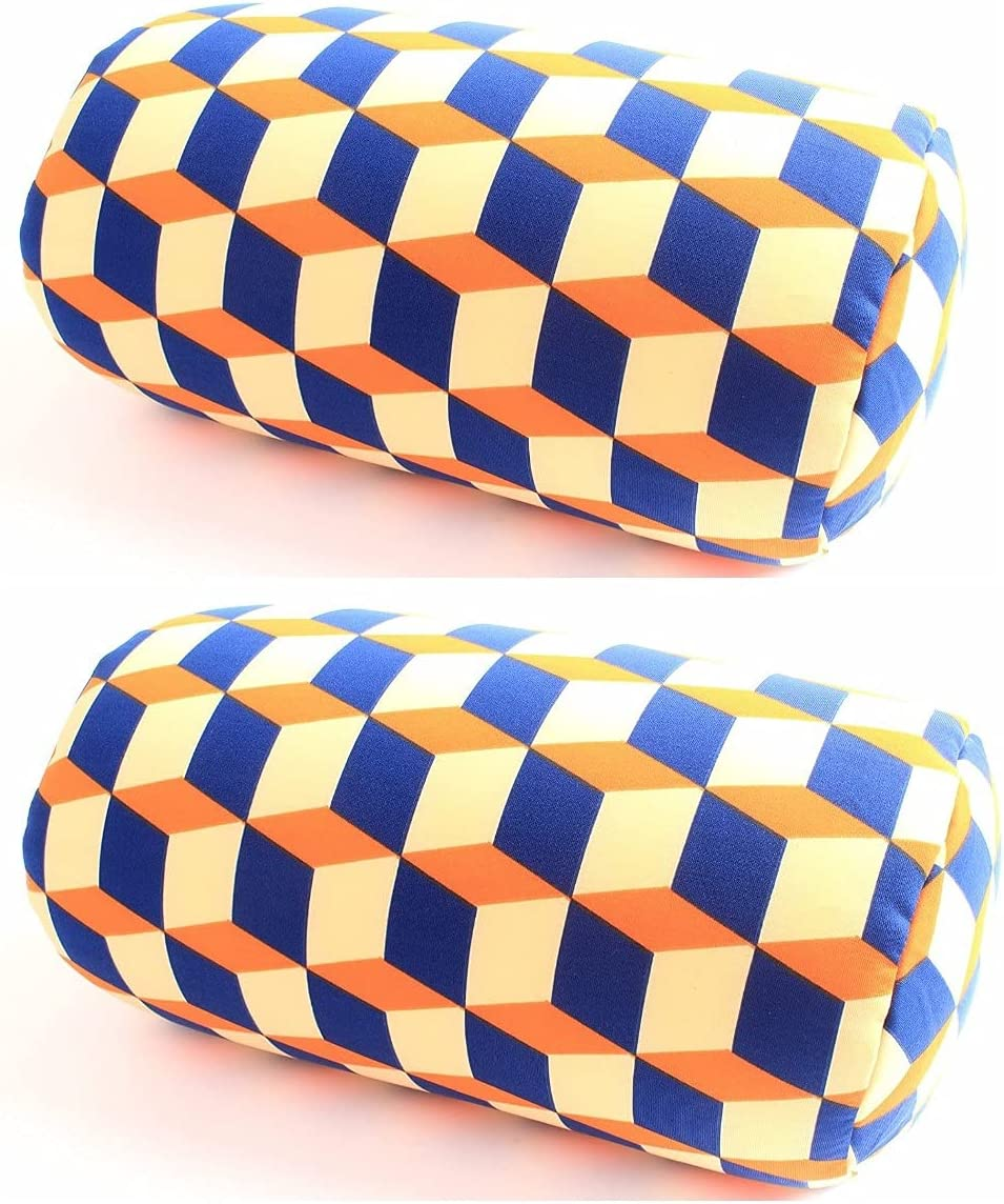 BookishBunny 2pcs Micro Bead Roll Pillow Bed Popular brand Max 88% OFF Cushion Ne Back for
