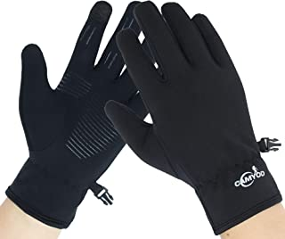 Windproof Anti-Slippery Softshell Touch Gloves - Outdoor Thermal Athletics Gloves Cycling, Running, Unisex Men