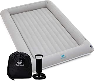 Hugbino Inflatable Toddler Travel Bed - Kids Air Mattress - Portable Blow Up Bed for Children, Lightweight and Sturdy - Floor Beds and Mattresses for Youth, Durable Traveling Accessories for Toddlers