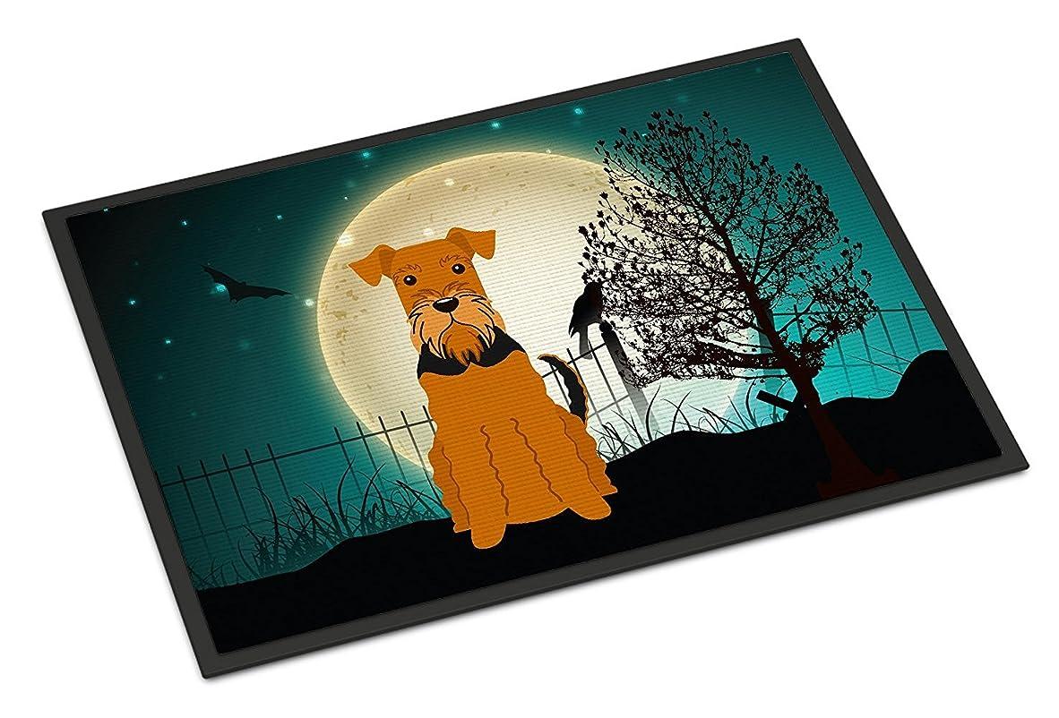 作家ベルお母さんCaroline's Treasures BB2231JMAT Halloween Scary Airedale Indoor or Outdoor Mat, 24 x 36', Multicolor [並行輸入品]