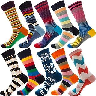 YOUJIAA, Calcetines cortos para hombre Estampado Variedad de colores Cómodo Calida Calcetines