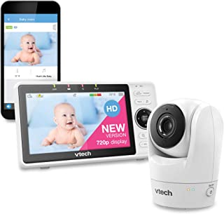 Upgraded-VTech VM901 WiFi Baby Monitor, 5-inch 720p Display, 1080p Camera, True-Color DayVision, HD NightVision, Fully Rem...