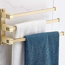 Home Messing Handdoekenrek 5 Bars Ruimtebesparend Handdoekhouders, Uitzwenkbare Handdoekstang Opklapbare Handdoekhanger, C...