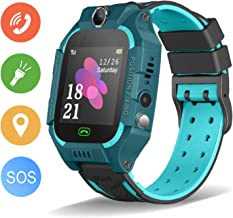 Enow Kids Smart Watch, IP67 Waterproof Watches LBS Tracker for Boys Girls with SOS Call Camera Flashlight Alarm Activity 1.44'' Touch Screen SIM Card Slot Electronic Smartwatch for Android/iOS (Green)