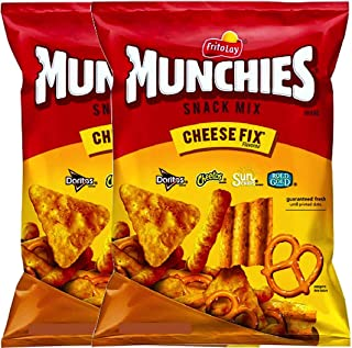 NEW Munchies Cheese Fix Flavored Snack Mix Doritos, Cheetos, Sun Chips, Rold Gold (2, 8oz Party)