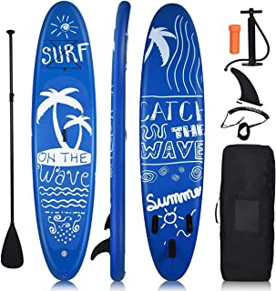 """Goplus 9.8'/10'/11' Inflatable Stand Up Paddle Board, 6.5"""" Thick SUP with Premium Accessories and Carry Bag, Wide Stance, ..."""
