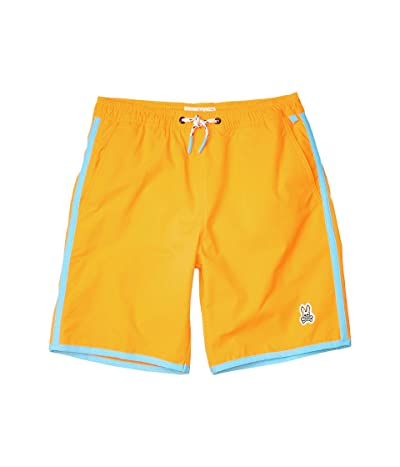 Psycho Bunny Kids Swim Trunks (Toddler/Little Kids/Big Kids) (Shocking Orange) Boy