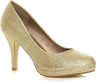 sitio de buena reputación 1e7d7 8c45a Amazon.es: zapatos dorados fiesta - 36 / Zapatos de tacón ...