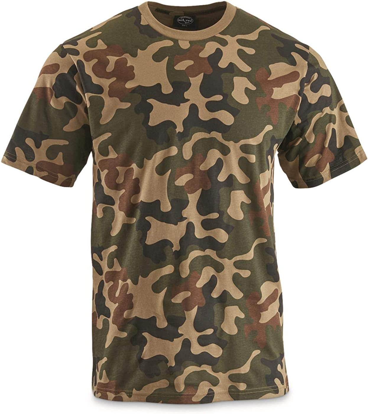 Fort All items in the store Worth Mall Surplus Mil-Tec Camo T-Shirt Polish Large Woodland
