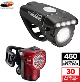Cygolite Dash 460 Lumens Front + Hotshot Micro 30 Lumen Rear USB Combo Light Set