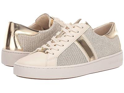 MICHAEL Michael Kors Keaton Stripe Sneaker (Pale Gold) Women