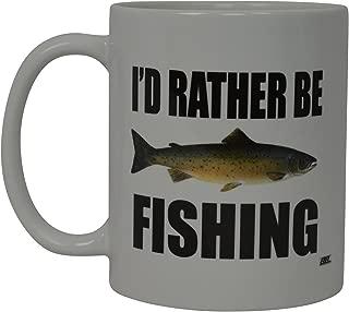 Rogue River Coffee Mug I'D Rather Be Fishing Fish Novelty...