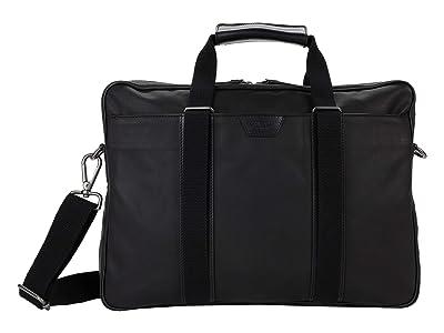 Shinola Detroit Brakeman Briefcase (Black) Handbags