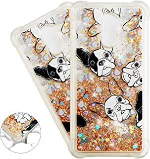 HMTECHUS Huawei Enjoy 7 Plus case 3D Pattern Quicksand Floating Shiny Glitter Flowing Liquid Shockproof Protect Silicone Cover Huawei Y7 / Y7 Prime/Metal / Y7 2017