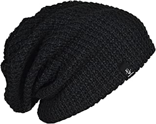 Mens Slouchy Long Oversized Beanie Knit Cap for Summer Winter B08