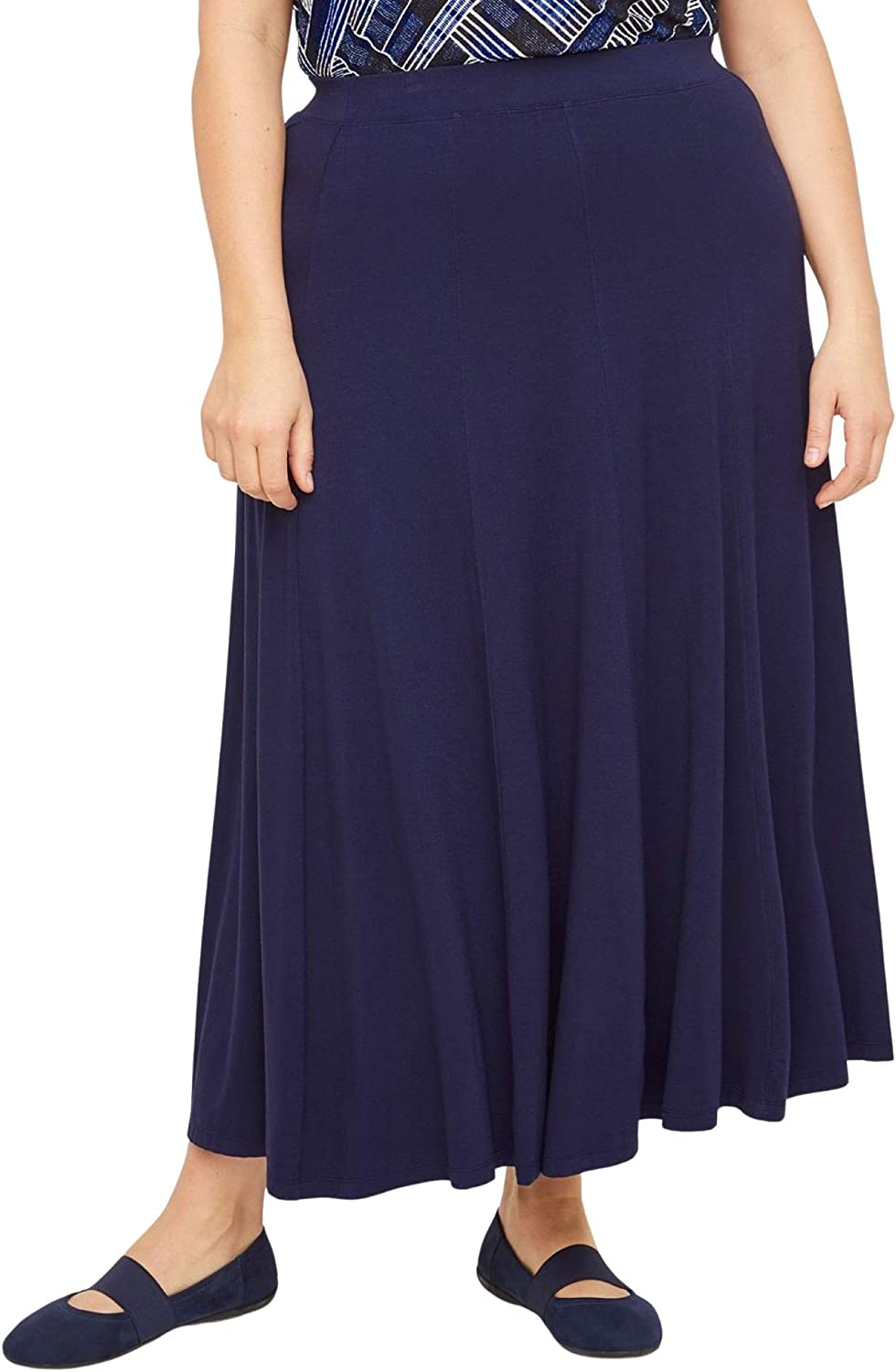 Catherines Women's Plus Size Anywear Seamed Skirt
