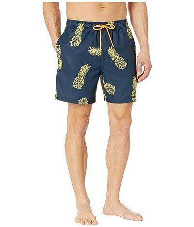 Southern Tide Pineapple Swim Trunks (True Navy) Men