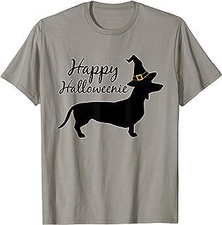 Happy Halloweenie Dachshund Wiener Dog Halloween T-shirt