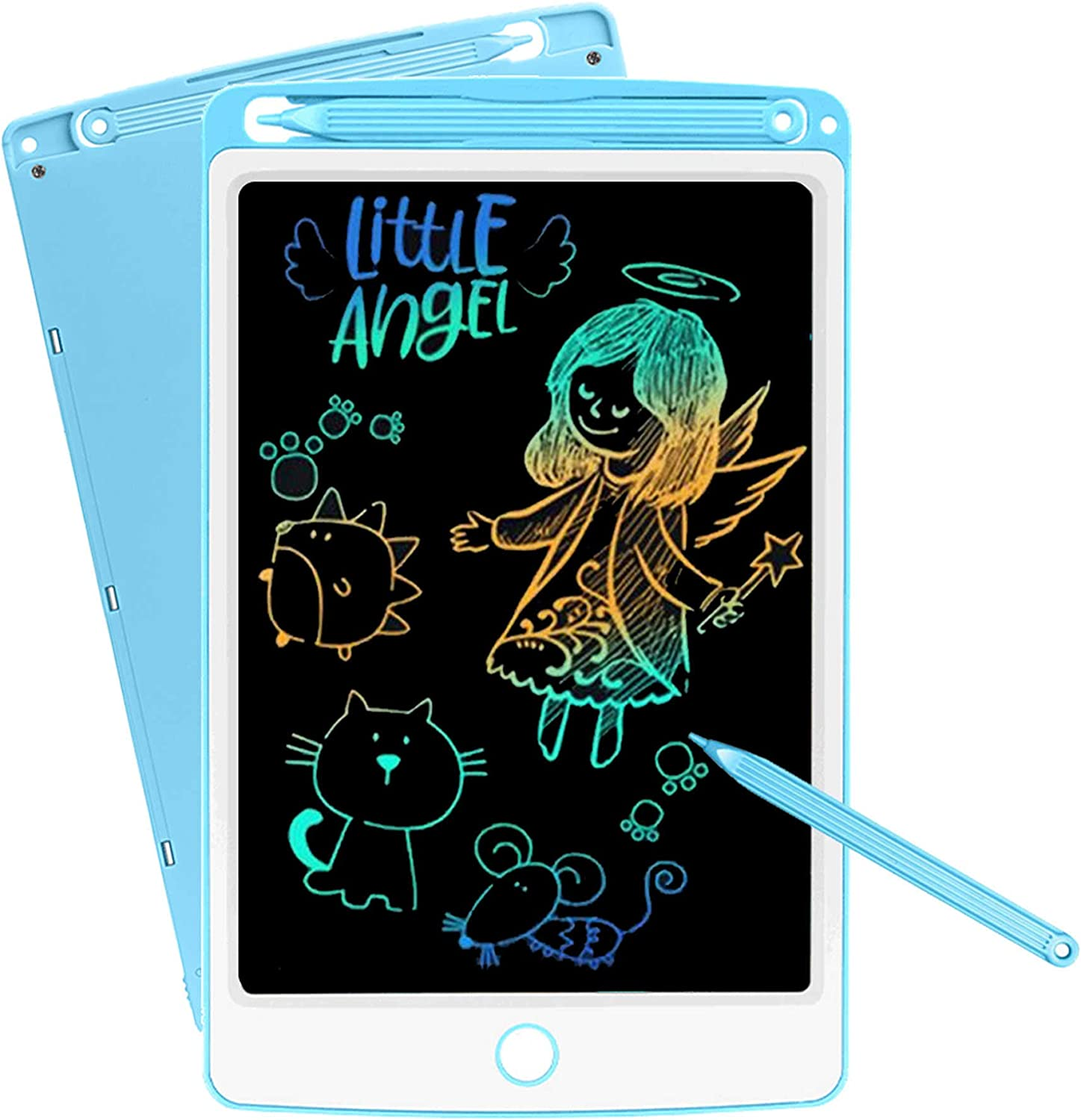 NOBES LCD Drawing Tablet for Kids Colorful Screen, Writing Tablet 10-Inch Erasable Electronic Digital Drawing Pad Doodle Board, Gift for Kids Adults Home School Office (Blue)