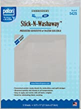 Pellon, White, Stick-N-Washaway Stabilizer, 8.5 by 11-Inch, 5-Pack