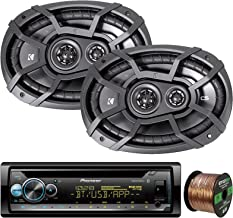 Pioneer DEH-S5100BT in-Dash Single-DIN Built-in Bluetooth CD Receiver, 2 x Kicker CS-Series CSC693 6x9 3-Way 4-Ohm Car Audio Speakers, 16-Gauge 50Ft. Speaker Wire