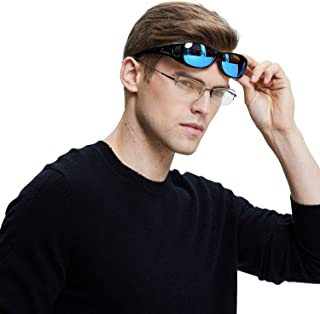 Unisex HD Wraparound Prescription Glasses Polarized Sunglasses 8953