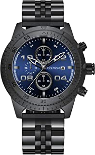 Mini Focus Mens Quartz Watch, Chronograph Display and Stainless Steel Strap - MF0230G.03