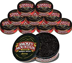 Smokey Mountain Herbal Snuff - Cherry - 10-Can Box - Nicotine-Free and Tobacco-Free - Herbal Snuff - Great Tasting & Refreshing Chewing Tobacco Alternative