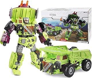 6 in 1ロボット玩具、ヒーローズレスキューボット、戦闘ロボットモデル、エンジニアリングビークルフィットロボット、変装コンバイナーフォースチームコンバイナーのロボット変形玩具キングコングビッグイエロービーアクションフィギュアトランスフォーマー...