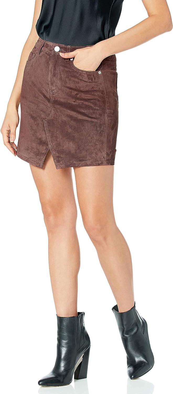 [BLANKNYC] Womens Real Suede Mini Skirt