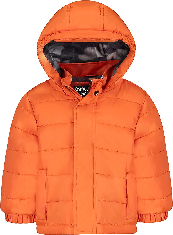 OshKosh B'Gosh Boys' Heavyweight Winter Jacket with Sherpa Lining
