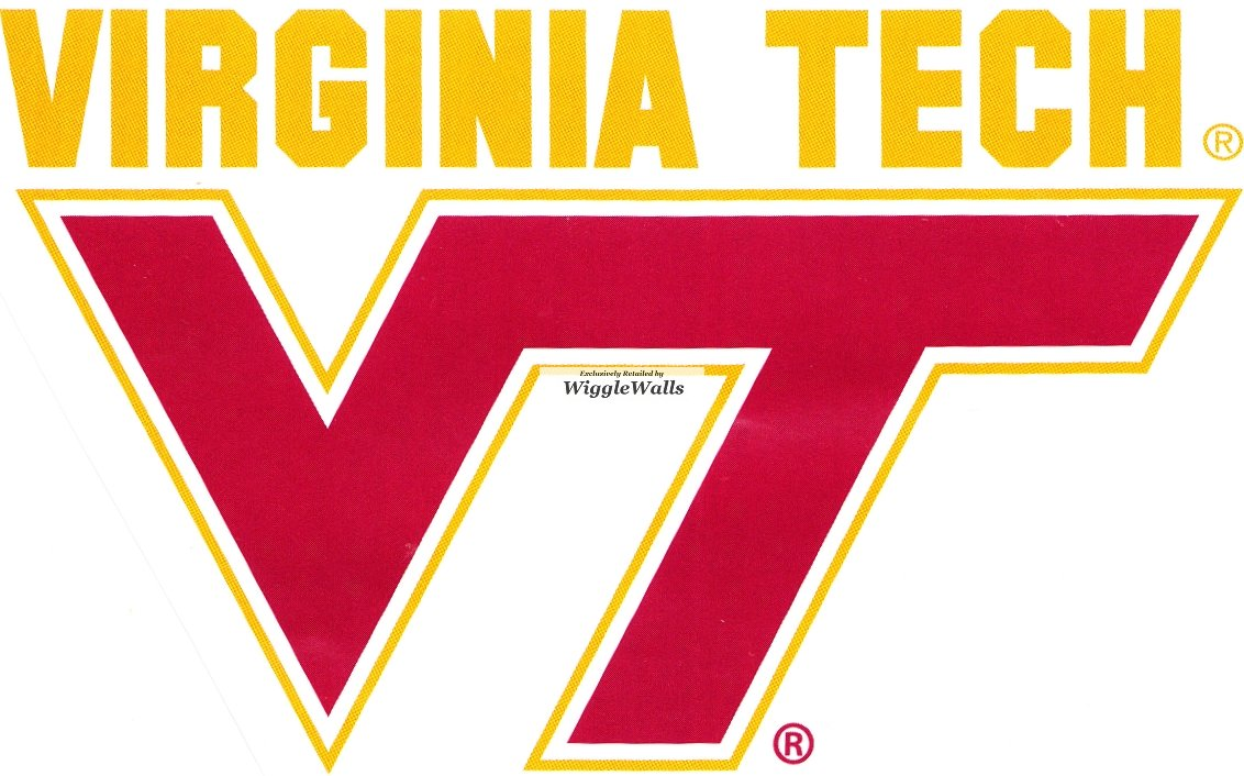 5 Inch Virginia Ranking TOP2 Tech VT Logo State Sales results No. 1 Institute Polytechnic and Uni