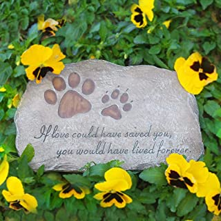 JHP Pet Memorial Stone Marker for Dog or Cat, Garden Stone for Loved Pet, Pet Grave Headstone Tombstone, Loss of Pet Gift