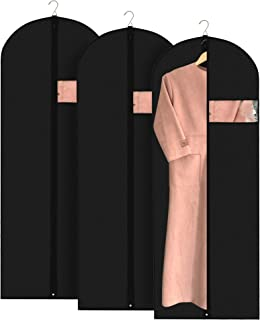 Tidy Home - Garment Bag for Storage and Travel - Sealed, Adjustable Moth Protector for Long Dress, Coat, Suit, Sweater - Hanging Jacket Bags for Closet - Dust Cover for Clothes - Breathable Set of 3